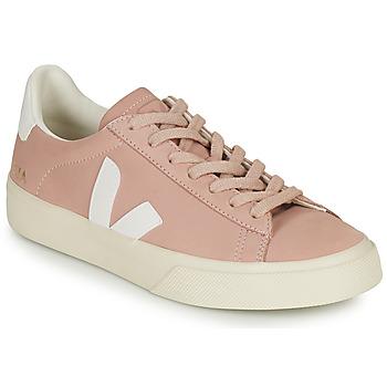 Sko Dame Lave sneakers Veja CAMPO Pink / Hvid