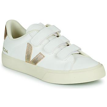 Sko Dame Lave sneakers Veja RECIFE LOGO Hvid / Guld