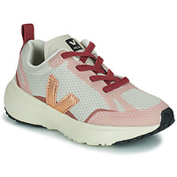 Sko Pige Lave sneakers Veja SMALL CANARY Hvid / Pink