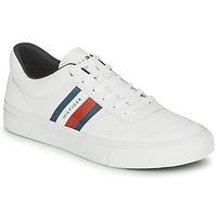 Sko Herre Lave sneakers Tommy Hilfiger CORE CORPORATE STRIPES VULC Hvid