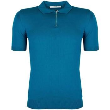 textil Herre Polo-t-shirts m. korte ærmer Takeshy Kurosawa  Blå