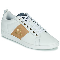 Sko Herre Lave sneakers Le Coq Sportif COURTCLASSIC Hvid / Gylden