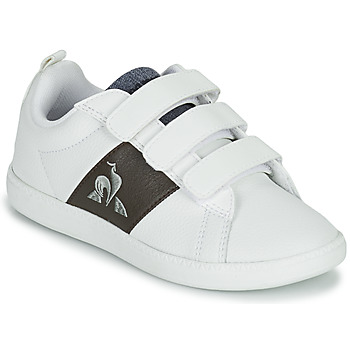 Sko Børn Lave sneakers Le Coq Sportif COURTCLASSIC PS Hvid / Brun