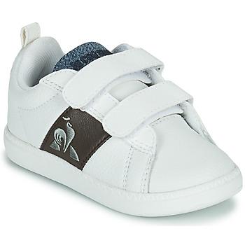 Sko Børn Lave sneakers Le Coq Sportif COURTCLASSIC INF Hvid / Brun