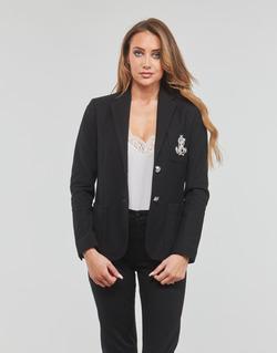 textil Dame Jakker / Blazere Lauren Ralph Lauren ANFISA-LINED-JACKET Sort