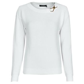 textil Dame Pullovere Lauren Ralph Lauren YAMINAH-LONG SLEEVE-SWEATER Hvid