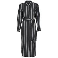 textil Dame Lange kjoler Lauren Ralph Lauren RYNETTA-LONG SLEEVE-CASUAL DRESS Sort