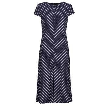 textil Dame Lange kjoler Lauren Ralph Lauren PIPPA-CAP SLEEVE-DAY DRESS Blå