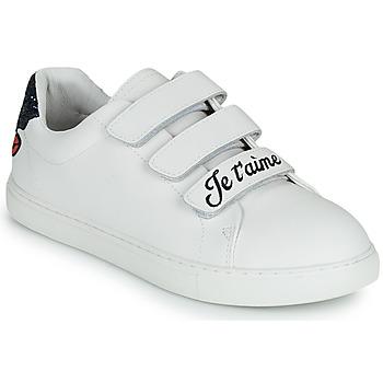 Sko Dame Lave sneakers Bons baisers de Paname EDITH JE T AIME MOI NON PLUS Hvid