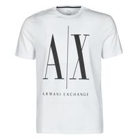 textil Herre T-shirts m. korte ærmer Armani Exchange HULO Hvid