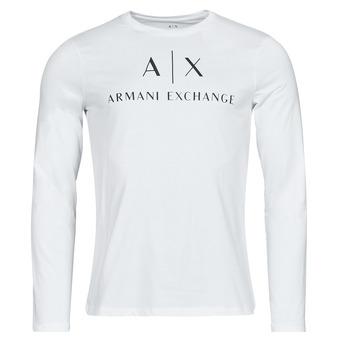 textil Herre Langærmede T-shirts Armani Exchange 8NZTCH Hvid