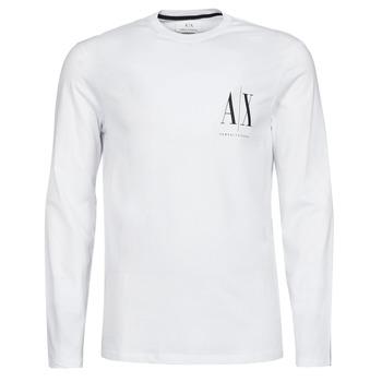 textil Herre Langærmede T-shirts Armani Exchange 8NZTPL Hvid