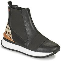 Sko Dame Høje sneakers Gioseppo LUNNER Sort / Leopard