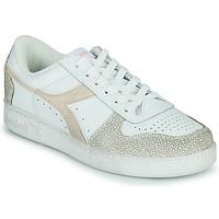 Sko Dame Lave sneakers Diadora MAGIC BASKET LOW ICONA WN Hvid / Pink