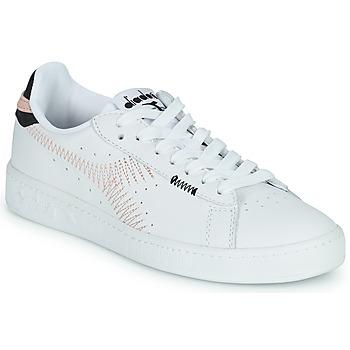 Sko Dame Lave sneakers Diadora GAME L LOW ZIG ZAG WN Hvid / Pink