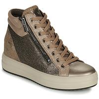 Sko Dame Høje sneakers IgI&CO DONNA SHIRLEY Beige / Guld