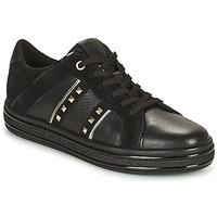 Sko Dame Lave sneakers Geox LEELU Sort