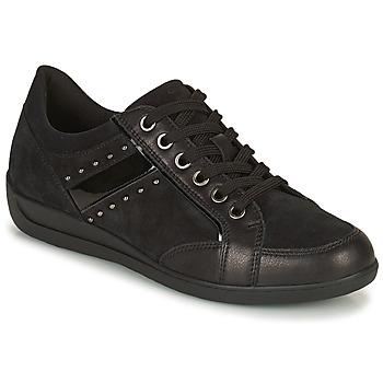 Sko Dame Lave sneakers Geox MYRIA Sort