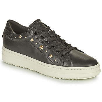 Sko Dame Lave sneakers Geox PONTOISE Sort / Guld