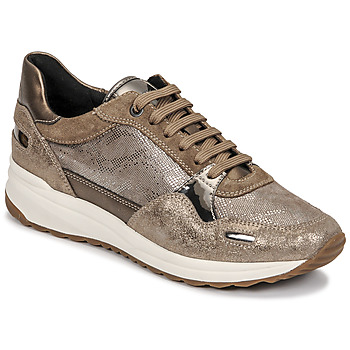 Sko Dame Lave sneakers Geox AIRELL Guld