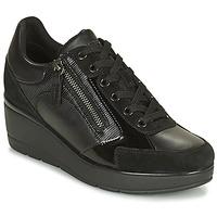 Sko Dame Lave sneakers Geox ILDE Sort