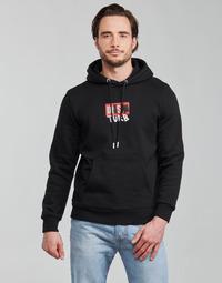 textil Herre Sweatshirts Diesel S-GIRK-HOOD-B8 Sort
