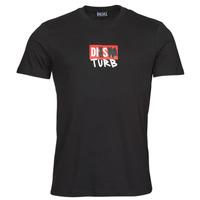 textil Herre T-shirts m. korte ærmer Diesel T-DIEGOS-B10 Sort