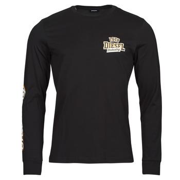 textil Herre Langærmede T-shirts Diesel T-DIEGOS-LS-K27 Sort