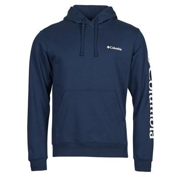 textil Herre Sweatshirts Columbia VIEWMONT II SLEEVE GRAPHIC HOODIE Marineblå / Hvid