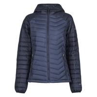 textil Dame Dynejakker Columbia POWDER LITE HOODED JACKET Marineblå / Sort