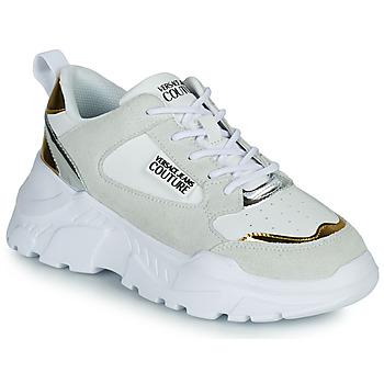 Sko Dame Lave sneakers Versace Jeans Couture FREMMI Hvid / Gylden / Sølv