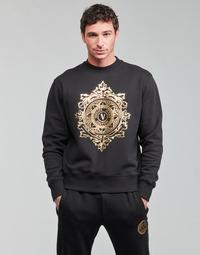 textil Herre Sweatshirts Versace Jeans Couture VEMBLEM LEAF Sort / Guld