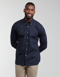 textil Herre Skjorter m. lange ærmer U.S Polo Assn. DIRK 51371 EH03 Marineblå