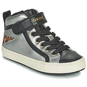 Sko Pige Høje sneakers Geox KALISPERA Sølv