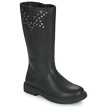 Sko Pige Chikke støvler Geox ECLAIR Sort