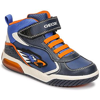 Sko Dreng Høje sneakers Geox INEK Blå / Orange
