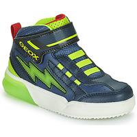 Sko Dreng Høje sneakers Geox GRAYJAY Marineblå / Grøn