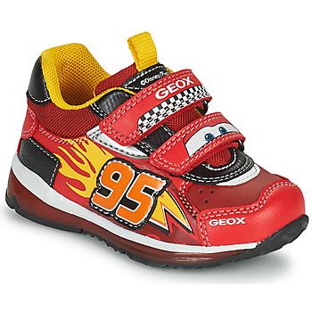 Sko Dreng Lave sneakers Geox TODO Rød / Gul