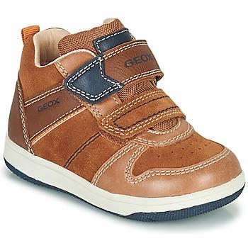 Sko Dreng Høje sneakers Geox NEW FLICK Brun