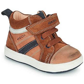 Sko Dreng Høje sneakers Geox BIGLIA Brun