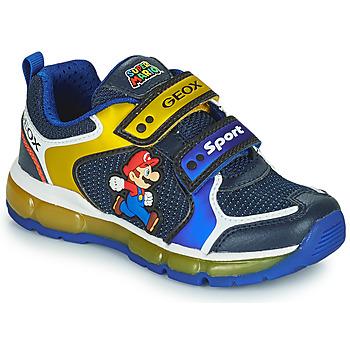 Sko Dreng Lave sneakers Geox ANDROID Blå / Gul