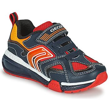 Sko Dreng Lave sneakers Geox BAYONYC Marineblå / Orange
