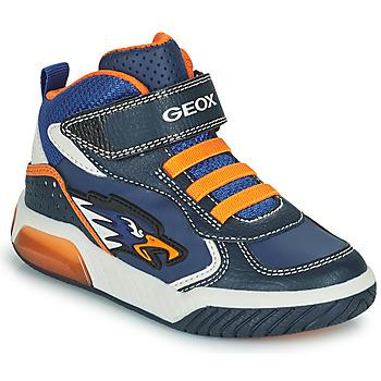 Sko Dreng Høje sneakers Geox INEK Marineblå / Orange