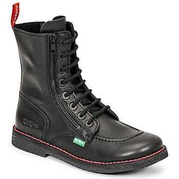 Sko Dame Chikke støvler Kickers MEETICKZIP Sort / Mat