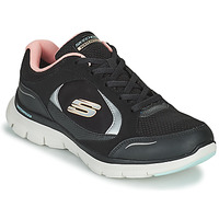 Sko Dame Lave sneakers Skechers FLEX APPEAL 4.0 Sort / Pink