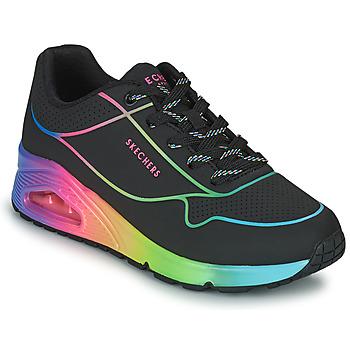 Sko Dame Lave sneakers Skechers UNO Sort / Flerfarvet