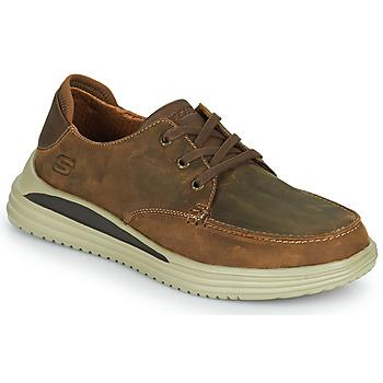Sko Herre Lave sneakers Skechers PROVEN Brun