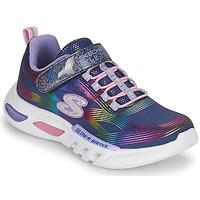 Sko Pige Lave sneakers Skechers GLOW-BRITES Marineblå / Led
