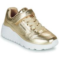 Sko Pige Lave sneakers Skechers UNO LITE Guld