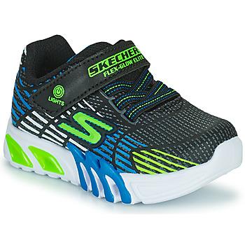 Sko Dreng Lave sneakers Skechers FLEX-GLOW ELITE Sort / Blå / Led